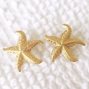 ⚫️ 5/$20 mermaid sea star starfish earrings